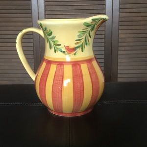 Gail Pittman hand Painted pitcher Siana, used for sale